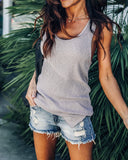 Summerland Knit Tank - Light Grey