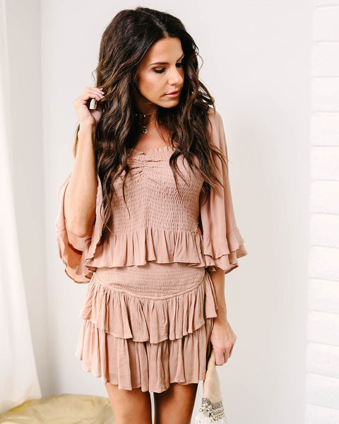 Iced Chai Smocked Top - FINAL SALE
