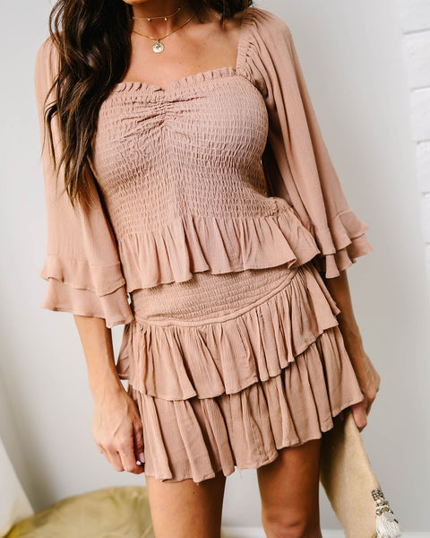 Iced Chai Smocked Top