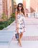 Laura Floral Keyhole Dress - FINAL SALE