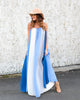 Basha Color Block Maxi Dress - Blue / Grey - FINAL SALE
