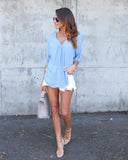 Kelly Criss Cross Top - Blue