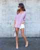 Kelly Criss Cross Top - Mauve Pink