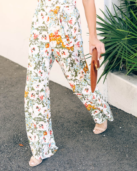 Gorgeous Garden Floral Tie Pants - FINAL SALE