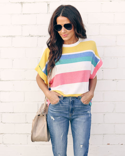 Happy Days Striped Tee