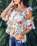Always There For Me Floral Eyelet Top - White - FINAL SALE