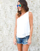 Carte Blanche Tank - White - FINAL SALE