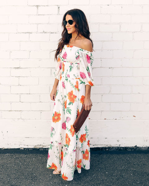 Hibiscus Princess Floral Maxi Dress