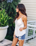 Dream Gaze Crochet Tank - Off White - FINAL SALE
