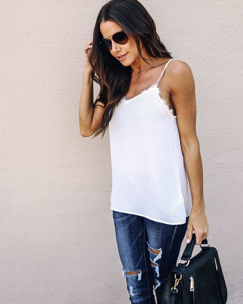 Tempting Lace Tank - Off White