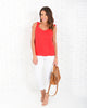 Virtuous Cupro Tie Tank - Red