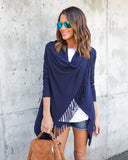 Shawl Fringe - Dark Denim
