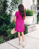 Making Moves Shift Dress - Fuchsia