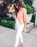 Sunday Best Linen Jacket - Rose