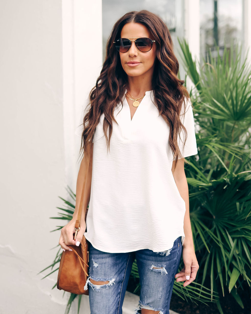 4543a93661eb1 Daily Grind Short Sleeve Blouse - Ivory – VICI