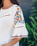 Awaken Embroidered Top