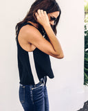 Ready Set Go Striped Tank - Black - FINAL SALE