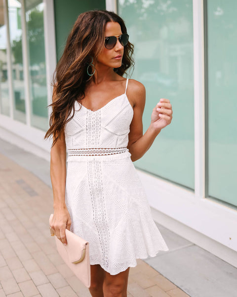 Wedded Bliss Cotton Eyelet Dress