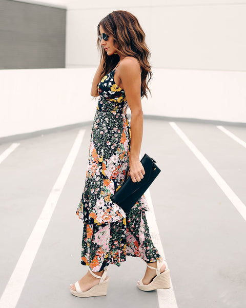 All Mixed Up Patchwork Floral Statement Dress