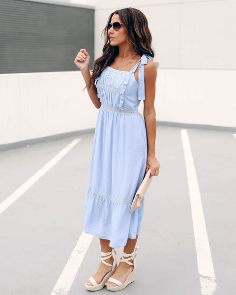 Those Baby Blues Crochet Tie Dress