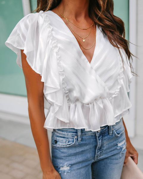 Hint Of Sparkle Flutter Top