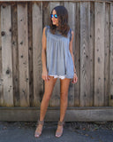 Arei Lace Tank - Grey