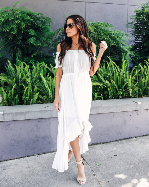 Amarillo High Low Dress - Off White - FINAL SALE