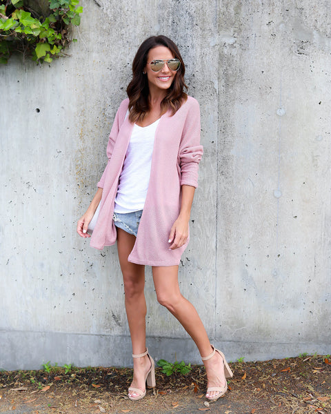 Jaxel Knit Cardigan - Blush