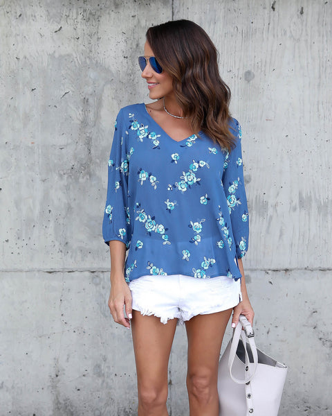 Baby Blues Embroidered Blouse