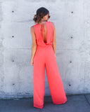 Do Over Jumpsuit - Salmon