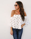 Country Club Off The Shoulder Top