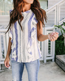 Catherine Cotton Button Down Ruffle Blouse - FINAL SALE