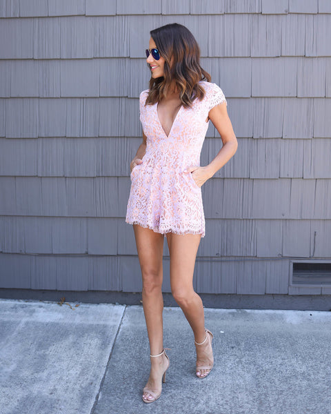 Sweet As Sugar Pocketed Romper