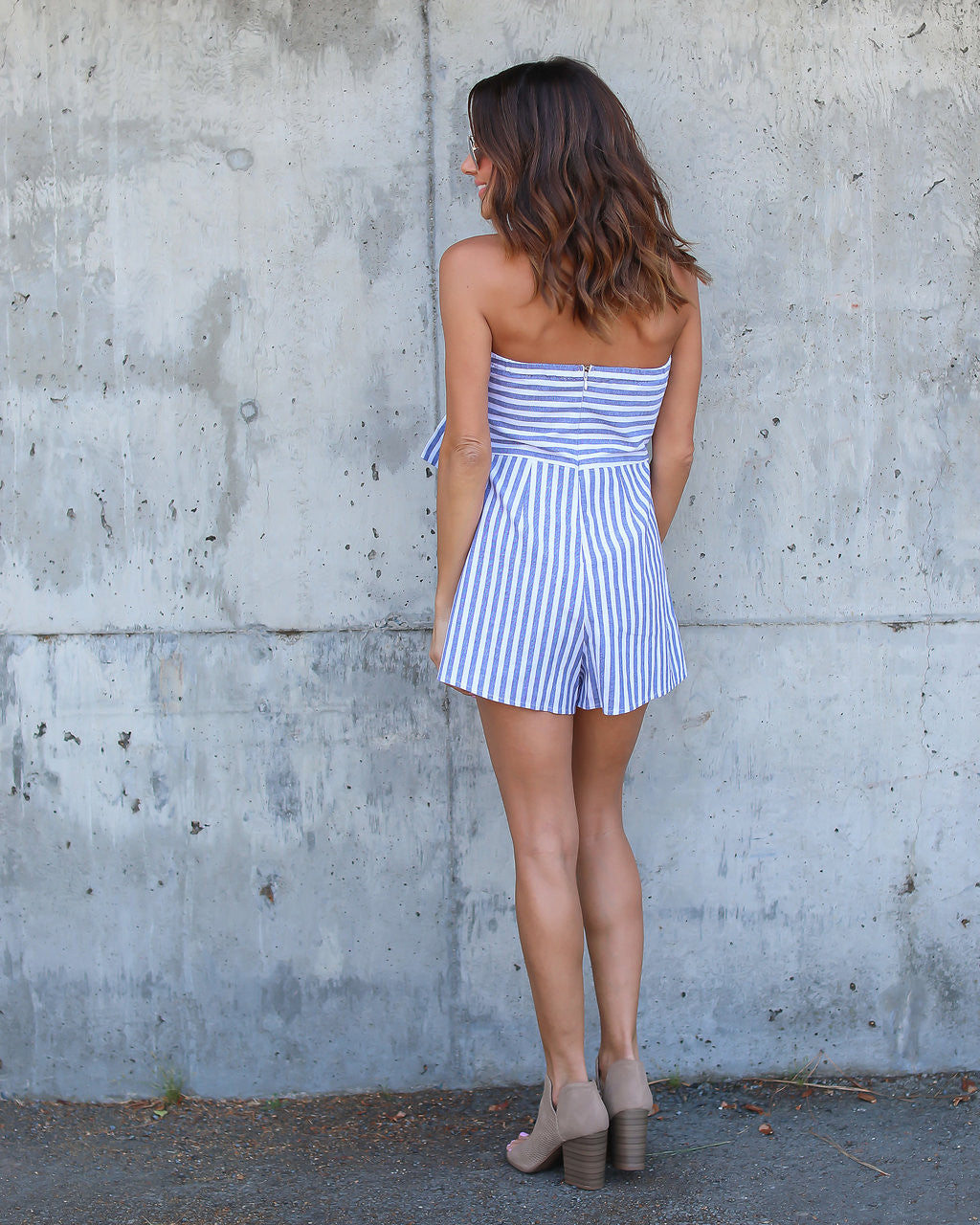 Lowe Striped Tie Romper - FINAL SALE