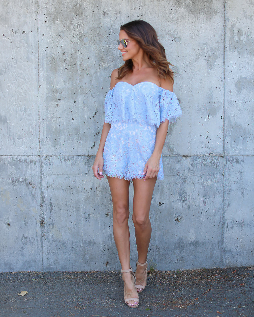 Joya Lace Romper - FINAL SALE