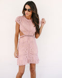 Just Tonight Cut Out Lace Dress