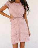 Just Tonight Cut Out Lace Dress - FINAL SALE