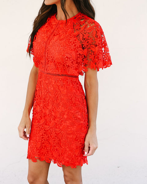Scarlet Crochet Dress