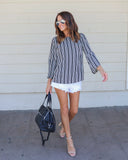 High Moon Striped Blouse - FLASH SALE