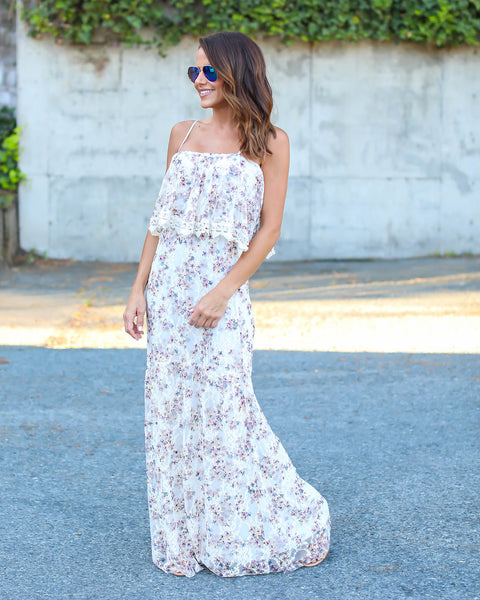 Whisk Me Away Lace Maxi Dress