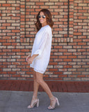 Valerie Embroidered Shift Dress - Ivory