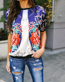 Trellis Floral Top - FINAL SALE