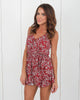 Moonrise Romper - Burgundy