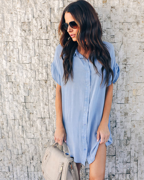 Bluegrass Washed Button Down Dress