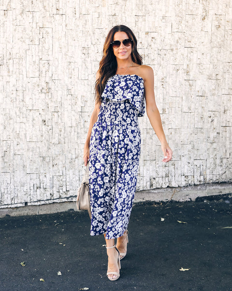 Meet Me At Twilight Floral Midi Dress - FINAL SALE