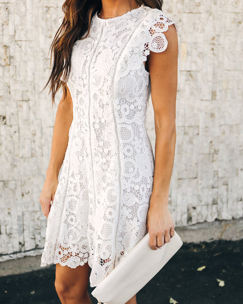 Fergie Lace Dress - Off White