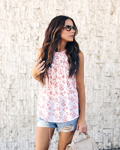 Pride + Beauty Floral Silk Top