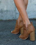 PREORDER - Duffy Peep Toe Bootie - Tan - SHIPPING EARLY JUNE
