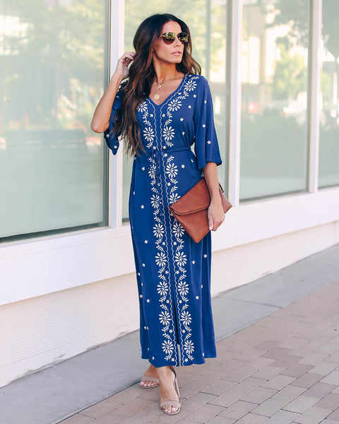 Pueblo Bonito Embroidered Maxi Dress - FINAL SALE