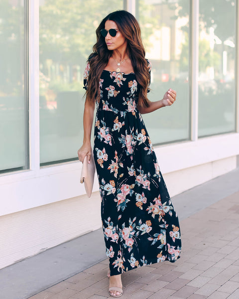 Glastonbury Floral Smocked Maxi Dress
